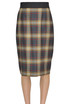 Checked print pencil skirt Le Col Group
