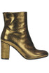 Metallic effect leather ankle-boots L'Autre Chose