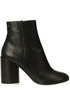 Leather ankle boots MM6 by Maison Margiela