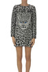 Save Me animal print knit dress Alberta Ferretti
