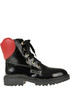 Patent-leather lace up boots Love Moschino