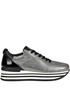 Metallic effect crakle leather sneakers Janet Sport