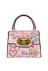 Welcome mini printed leather bag Dolce e Gabbana