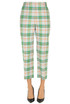Checked print trousers Tibi