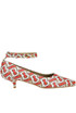 Tawny monogram print peep-toe pumps Burberry