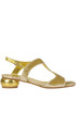 Metallic effect leather and velvet sandals Dries Van Noten
