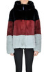 Striped eco-fur jacket Dondup