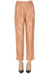 Metallic effect jaquard fabric trousers Forte_Forte