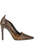 Reptile effect leather pumps Estelle