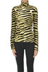 Animal print turtleneck top Paco Rabanne