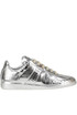 Metallic effect leather sneakers Maison Margiela