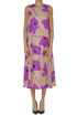 Flower print silk dress Alysi