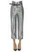 Metallic effect cropped trousers Les Coyotes De Paris