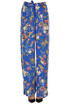 Printed satin trousers Pinko