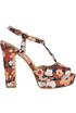 Jaquard fabric sandals Strategia