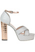 Texured leather platform sandals Pollini