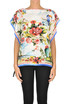 Printed silk top RED Valentino