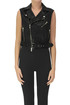 Cropped leather gilet Bully