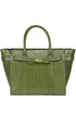 Zipped Bayswater Shiny Croc print Mulberry