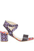 Printed leather sandals Lisa Corti