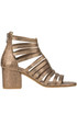 Metallic effect leather sandals Janet&Janet
