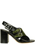 Reptile print leather sandals Dries Van Noten