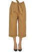 Cropped cotton trousers Pinko