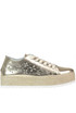 Metallic effect leather sneakers Guess
