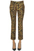 Animal print wool trousers Paco Rabanne