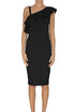 Viscose-blend sheath dress D.Exterior