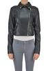 Cropped eco-leather biker jacket Patrizia Pepe