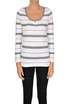 Striped cotton pullover Base Milano