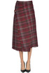 Checked print wraparound skirt Acne Studios