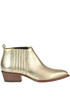 Metallic effect leather texan ankle-boots Buttero