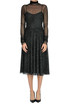 Metallic effect cut-out knit dress PHILOSOPHY di Lorenzo Serafini