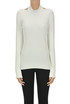 Ribbed viscose-blend knit pullover Helmut Lang