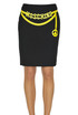 Designer logo pencil skirt Moschino Couture