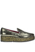 Mari metallic effect leather loafers 181