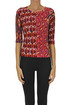 Optical print extrafine knit pullover In Bed With You