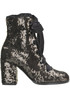 Sequined lace-up boots Alberto Gozzi