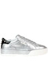 Metallic effect leather sneakers Hogan