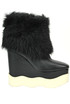 Eco-fur insert wedge boots Paloma Barcelò