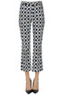 Optical print cotton trousers Max Mara Studio