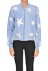Denim bomber jacket with stars Stella McCartney