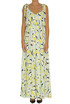 Printed crepè long dress Dondup