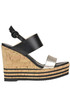 Leather wedge sandals Hogan