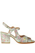 Metallic effect leather sandals Rose's Roses