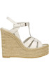 Leather wedge espadrillas Saint Laurent