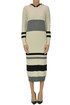 Striped cashmere long dress Reit
