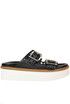 Leather wedge slides Tod's